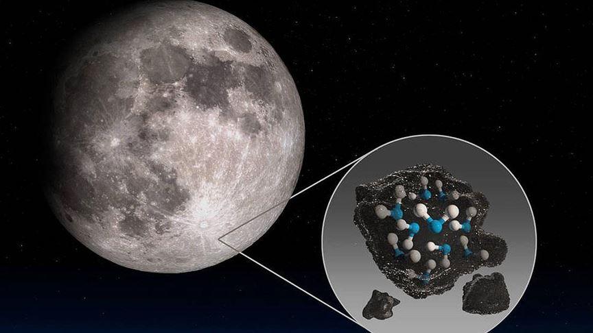 Ay yüzeyinde su